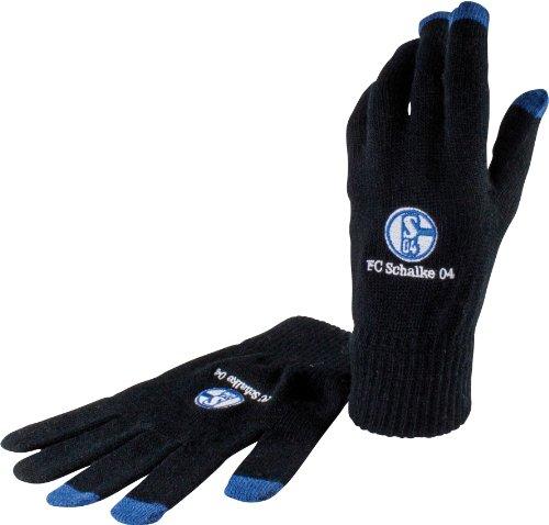 FC Schalke 04 Smartphone Handschuhe, schwarz, Größe: M