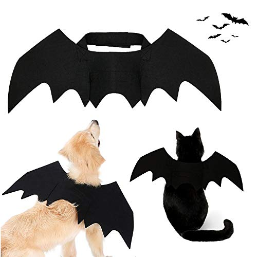 Strangefly Halloween Bat Wings Pet Costume,Party Dress Up Funny Cool Apparel,for Cat and Small Medium Large Dog(S)
