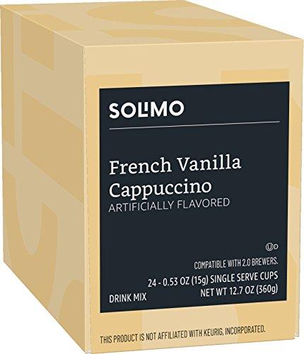 Solimo Cappuccino Single Serve Cups, French Vanilla, 24ct
