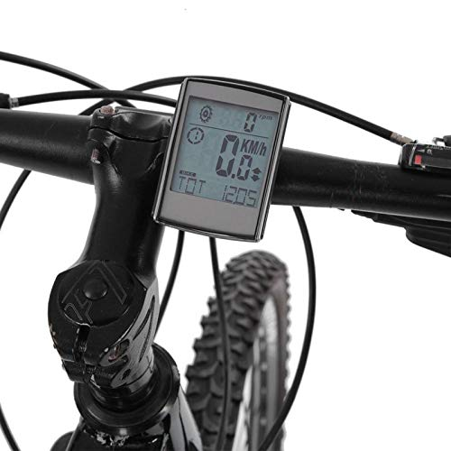 DAUERHAFT Tabla de códigos inalámbrica 2 en 1 para Bicicletas Tabla de códigos inalámbricas Que Ahorra energía, Apta para la mayoría de Las Bicicletas, con Sensor de frecuencia de Pasos inalámbrico