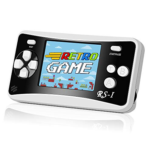 Mademax RS-1 Handheld Game Console, 400 Classic FC Retro Game Player with 2.5' 8-Bit LCD Portable Video Games, Built-in 400 Old School Games Entertainment, Birthday Presents for Kids and Adult