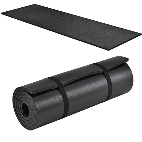 ArtSport Gymnastikmatte Yogamatte 185 x 60 x 1,5 cm schwarz – rutschfest & rollbar – Fitnessmatte für Fitness Pilates Yoga & Gymnastik