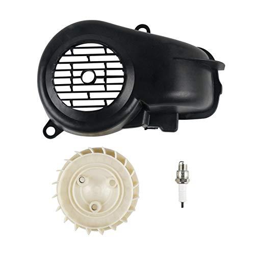 CeXaoYg Montaje de Ventilador de refrigeración de la Cubierta de Aire con bujía para Yamaha Jog90 para Polaris E-Ton Dinli Scrambler Sportsman Predator 90 CeXaoYg