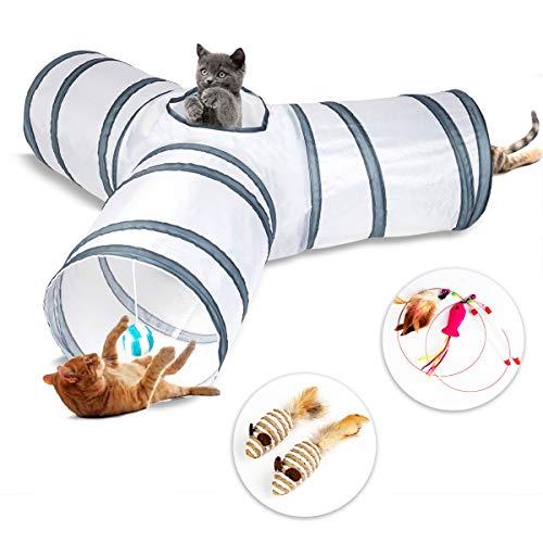 Tunnel per gatti a 3 vie, tunnel per giochi per gatti, tunnel per conigli, adatto per gatti, conigli, cuccioli