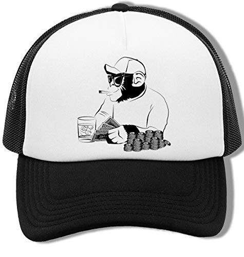 Chimpance Póker Unisex Gorra De Béisbol Hombre Mujer Blanco Negro Baseball Cap Mens Womens