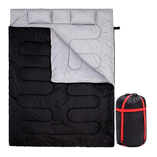 CATRP Double Sac De Couchage, Sac De Couchage D'enveloppe Rectangulaire pour Le Camping des Adultes, Randonnée