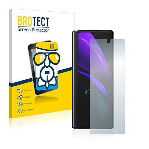 brotect Pellicola Protettiva Vetro Compatibile con Samsung Galaxy Z Fold 2 Schermo Protezione, Estrema Durezza 9H, Anti-Impronte, AirGlass