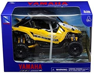 NEW 1:18 NEW RAY MOTORCYCLES COLLECTION - YELLOW YAMAHA YXZ 1000R TRIPLE-CYLINDER Model Car By NEW RAY TOYS