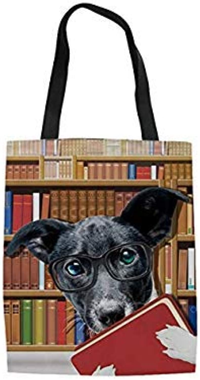 Bloomerang coloranimal French Bulldog Casual Eco-Friendly Canvas Tote Bags Cute Pet Cat Dog Pattern Women Travel Shopping Cotton Handbags color CC3645Z22 42X34X1.5CM