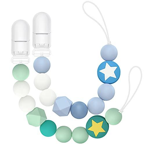InnOrca Silicona Chew Beads Soothie Chupete Clip para correa para bebés, Niños...