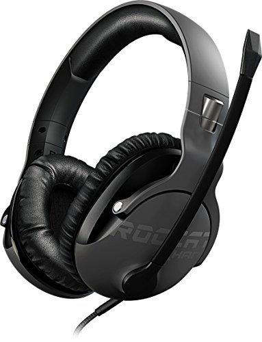ROCCAT Khan Pro - Hi-Res Esports Gaming Headset (Stereo 3,5 mm, Superleichte 230 g, Multiplattform Kopfhörer für PC/Mac/Playstation 4/Xbox One/Nintendo Switch/Android/iOS/VR) grau