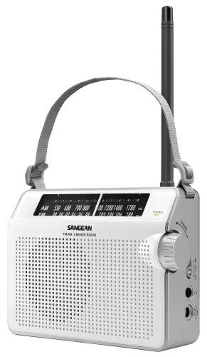 Sangean PR-D6WH AM/FM Compact Analog Portable Radio , White