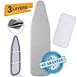 Petask Ironing Board Cover and Pad, Silicone Coated Resists Scorching and Staining Ironing Board Pads with...
