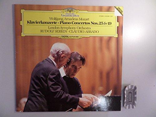 Mozart: Klavierkonzerte Nos. 25 & 19 [Vinyl, LP, 410 989-1].