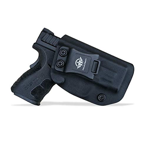 """Kydex IWB Holster Springfield XD MOD .2 3"""" Sub-Compact 9MM / .40 S&W Single Stack Pistol Case Inside Waistband Carry Concealed Holster Springfield XD 9mm Guns Accessories (Black, Right Hand Draw)"""