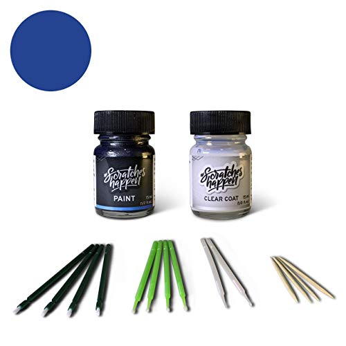 ScratchesHappen Exact-Match Touch Up Paint Kit Compatible with Land Rover Martinique/Lazuli Blue (850/JZX) - Bottle, Essential