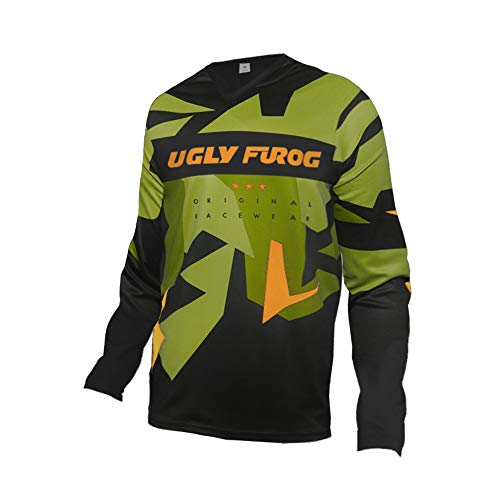 Uglyfrog 2021 Ropa de Descenso MTB Manga Larga Maillot de Ciclismo Moto Cross Enduro Downhill Jersey ESHSJF03