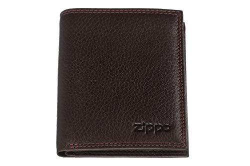 Zippo - Cartera Triple para Hombre, Color marrón, Color Marrón, Talla 1.5x8.8000000000000007x10.4 cm (B x H x T)