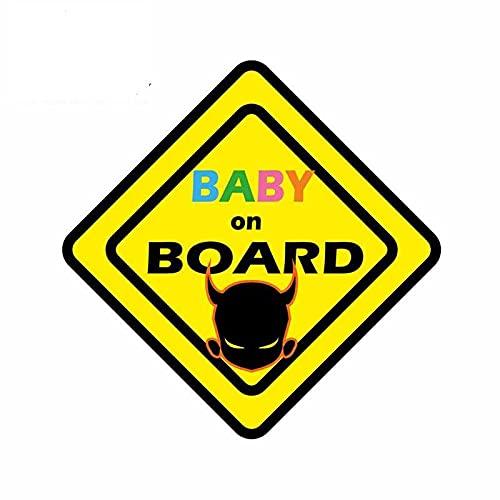 A/X 13 cm 12,8 cm para bebé a Bordo decoración del Diablo Van Pegatinas de Coche Personalidad de Windows