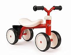 Smoby - Rookie balans fiets rood - ideale loper hulp voor kinderen vanaf 12 maanden, runner wiel met speelgoed mand, retro ontwerp voor jongens en meisjes *