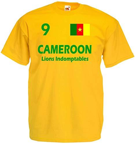 Kamerun Herren T-Shirt Cameroon Die Löwen Trikot Lions Fun Shirt