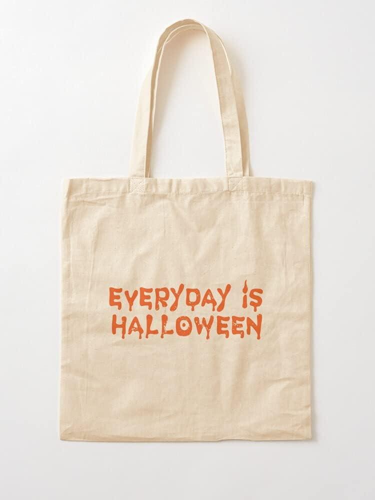 Genérico A Horror Lifestyle October 31St Punk Everyday is Halloween Goth | Bolsas de lona con asas de algodón duradero