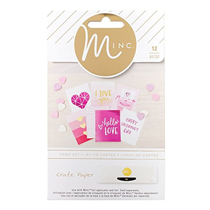 American Crafts 12 Piece Crate Paper Hello Love Minc Cards