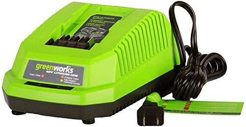 Greenworks Lithium Batterie Schnellladegerät für Gartengeräte und Elektrowerkzeuge der Serie 40V