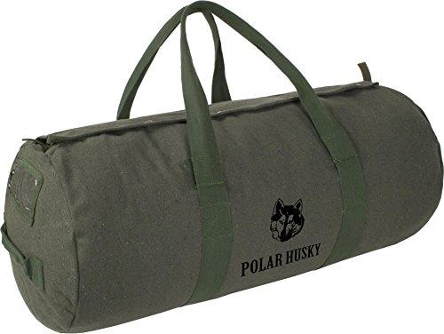 Polar Husky® Canvas Universal Seesack/Tasche aus Reiner Baumwolle Farbe Oliv Größe 70L