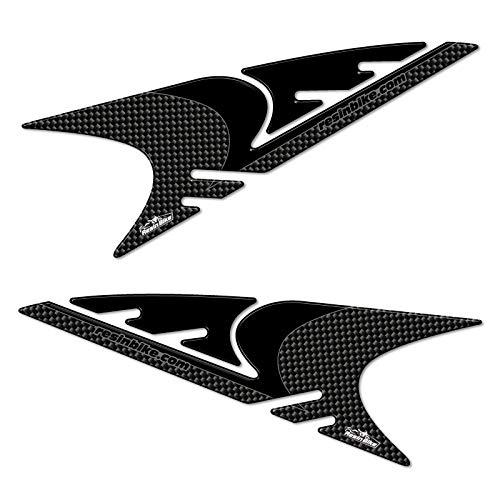 3D oogschaduw sticker Mod 02 compatibel met knipperlichten Yamaha Tmax 2008-2011 - Carbon Look