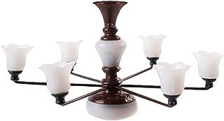 Generic Modern Mini Chandelier Celing Lamp Model Building Sand Table Living Room Craft Decoration Accessories - Bronze War...