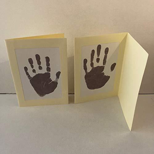 1 x Kit de cartes pour cadre de bébé pour empreintes de mains et empreintes de pas, souvenir pour enfant ou nouveau-né. Merci les cartes. Parfait pour les cartes de Noël ou comme cadeau, présent.