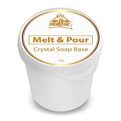 Base de Savon de Glycérine 1000g - 1kg - Melt & Pour Crystal ST - Transparent - Fait à la Main - Beau Cadeau