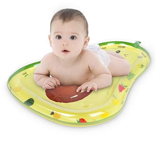 Tummy Time Matte, Baby-Wassermatte für Kleinkinder, aufblasbares Spielzeug, Wasserspielmatte für 3, 6, 9 Monate alte, neugeborene Jungen und Mädchen