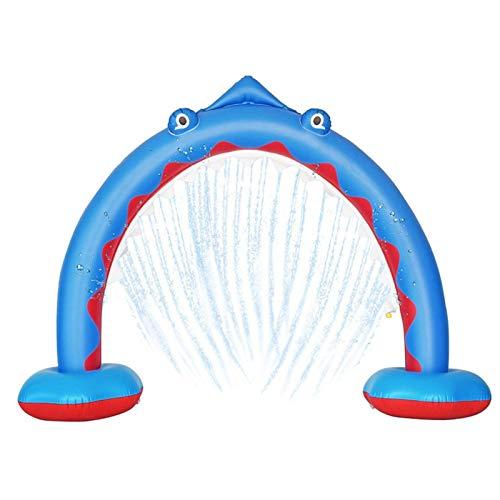 Aspersor inflable de tiburón con bomba de aire manual, juguetes de baño...