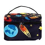 Bolsa de cosméticos de 22,6 x 15 x 13,7 cm, bolsa de aseo para mujeres y niñas, bolsa de maquillaje, bolsa de viaje