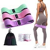 Binudum Bandas Elasticas 3 Niveles Bandas Resistencia Musculacion Antideslizante Fitness Exercise para Yoga, Pilates, Muscle, Stretching para Glúteos, Cadera, Piernas, Brazos (Tp2)