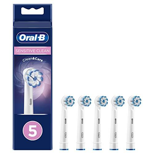 Braun Oral-B 4210201316947 Sensitive Clean - Testine di ricambio con setole ultra sottili per la pulizia più delicata, 5 pezzi