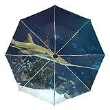 Montoj - Paraguas para acuario pequeño con protección UV con botón de apertura automática
