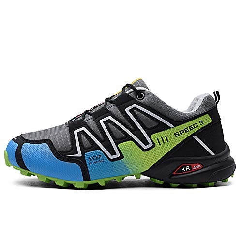 Logobeing Zapatillas de Senderismo Hombre Aire Libre y Deporte Zapatillas de Malla Transpirables Zapatillas de Trabajo Ultraligeras y Antideslizantes Trainers (42, Verde) …