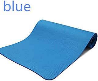 10MM Non Slip YOGO Mat Exercise Workout Fitness Physio Pilates Gym Cushion Thick Blue