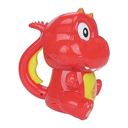 T TOOYFUL 恐竜の形 バブルマシン バブルメーカー シャンボン玉発生機 子供おもちゃ パーティー玩具 外遊び 2色選ぶ - 赤