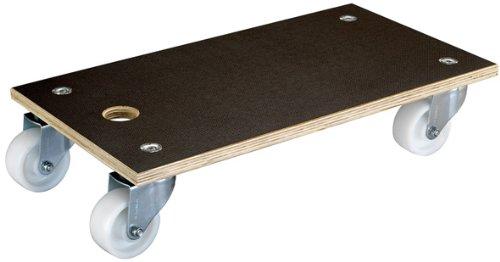 WAGNER Transporthilfe - MAXIGRIP - Multiplexplatte 18 mm, FSC®, Antirutsch-Filmsiebdruck, 57,5 x 30 x 13,5 cm, Transportgeräterollen Durchmesser 100 mm, Tragkraft 400 kg - 20111101