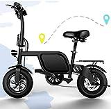SHIJING Mini vélo électrique Batterie Lithium 3CCC Pliable Voyage Aide Moto Large...