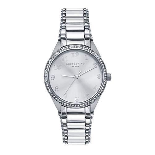 Liebeskind Berlin Damen Analog Quarz Uhr mit Edelstahl Armband LT-0243-MQ