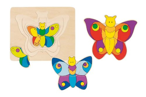 Goki 57899 - Schichtenpuzzle - Schmetterling