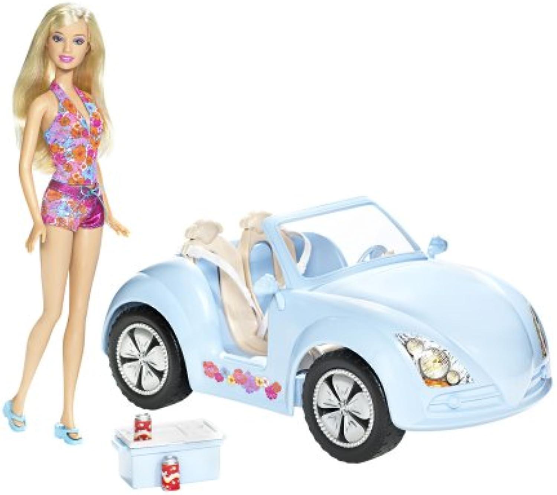 Barbie tropical beach cruiser car & doll gift set
