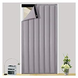 Cortinas Aislantes Térmicas, Apagón Panel De Partición Interior Protección De La Privacidad para Habitación Cortinas Térmicas (Color : Gray, Size : 100x210cm)