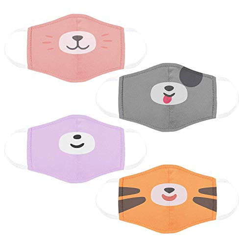 Cubcoats Kids Face Mask 4-Pack, Breathable & Comfortable Masks for Kids, Great for Halloween and School Supplies, Boys and Girls...