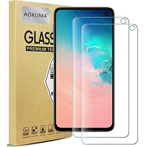 AOKUMA Samsung Galaxy s10e Verre Trempé, [Lot de 2] Verre Trempé Samsung Galaxy s10e [0.26mm] [Extreme Résistant aux Rayures][Haut Définition] Facile Installation Film Protection écran